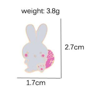 5/$24 White with Pink Easter Bunny Pin Brooch